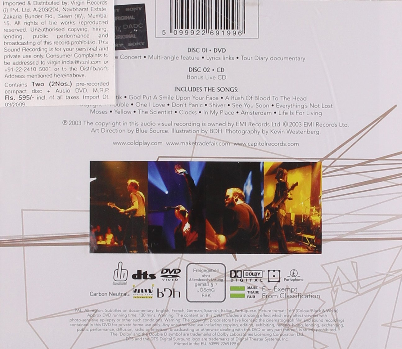 Coldplay: Live 2003 [Region 2]