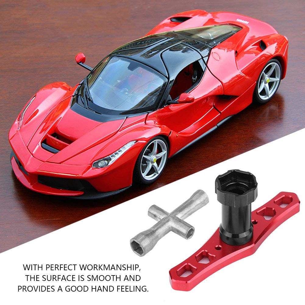 Dilwe 17mm Wheel Nut Sleeve Wrench Tool M2.5 M3 M4 Hex Cross Wrench for RC Car // Airplane M2