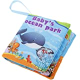 Kids Ocean Park Theme Cloth Book with Bright Color Pictures Toddler Baby Learning Toys