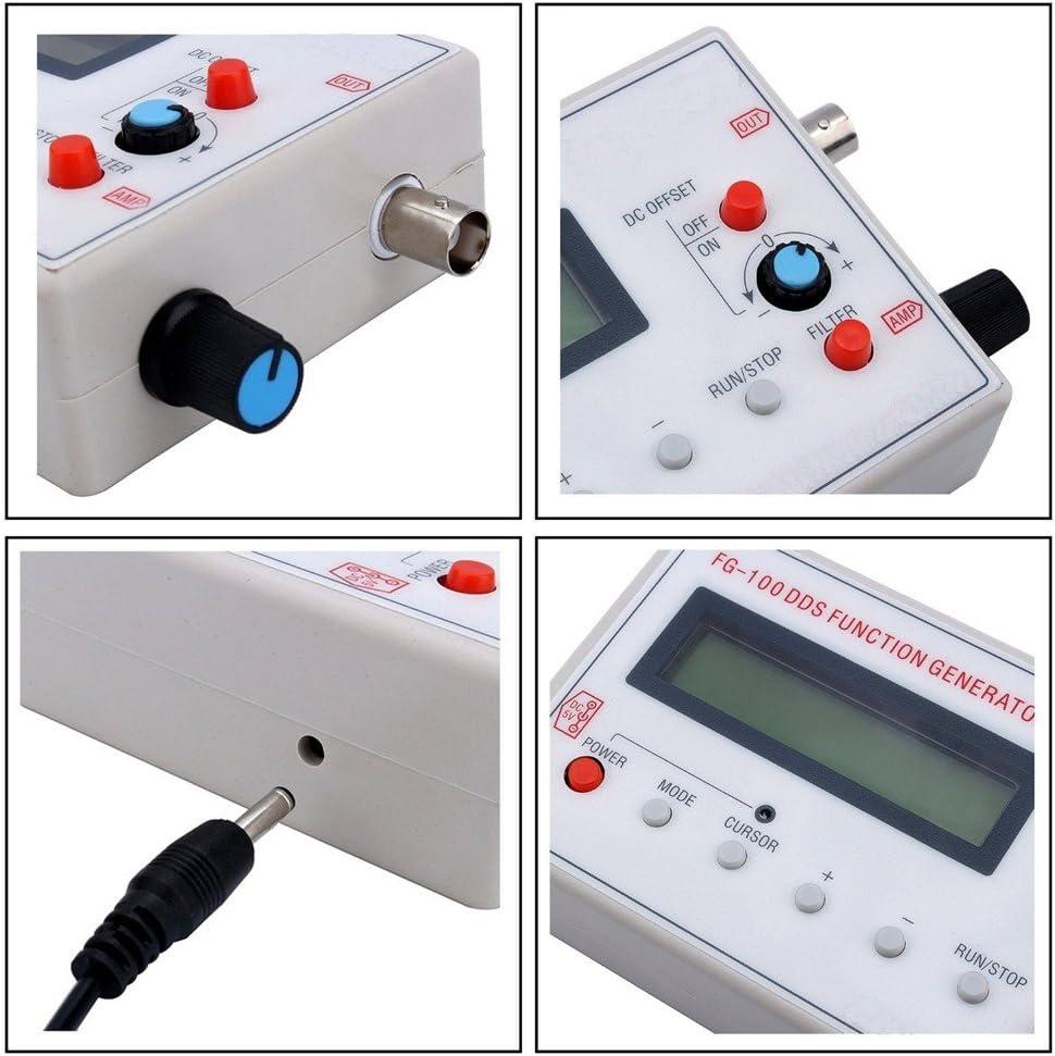 Diymore DDS 1HZ-500KHz 1602 - Generador de señal (Pantalla LCD, sintonizador, triángulo y frecuencia de Onda Cuadrada)