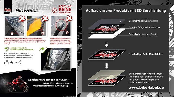 BIKE-label 600001-VA Tappo serbatoio Pad Ghost Rider universale compatibile per Honda