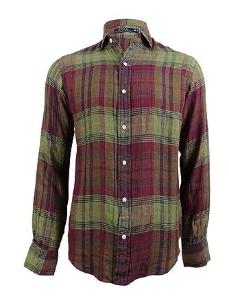 6702917e5 Image Unavailable. Image not available for. Color  Polo Ralph Lauren Men s  Plaid Linen Sport Shirt ...