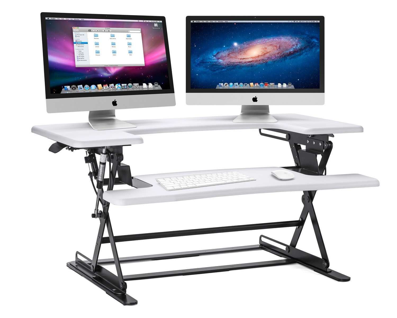 Halter ED-600 Preassembled Height Adjustable Desk Sit / Stand Elevating Desktop - White