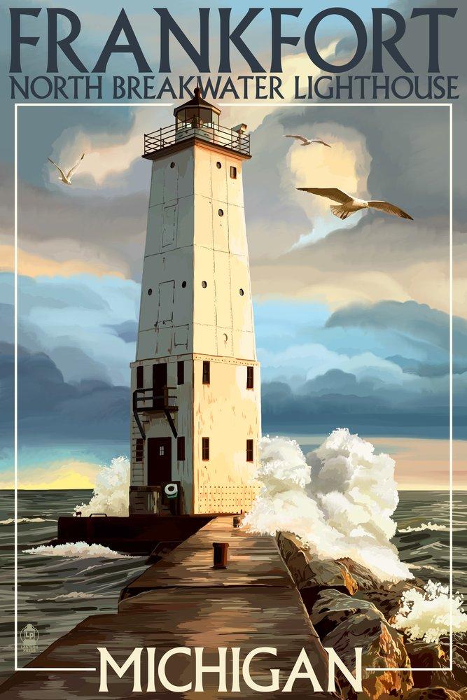 Frankfort灯台、ミシガン州 Canvas Art Tote Bag LANT-41202-TT 18 B00N5CIJTO Tote 12 x 18 Art Print 12 x 18 Art Print, タカギムラ:d6784741 --- rdtrivselbridge.se