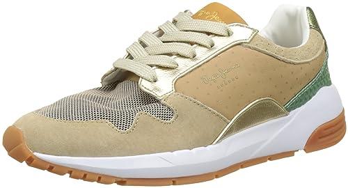 Pepe Jeans London Foster Itaca, Zapatillas para Mujer, Gris (Pilot), 41 EU