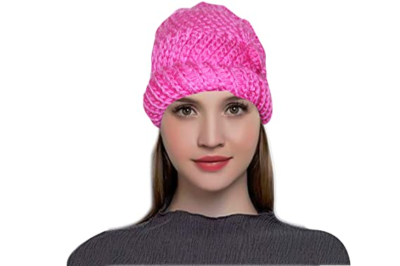 dfc7232f Image Unavailable. Image not available for. Colour: MAGIC Women's Winter  Warm Knit Hat Wool ...