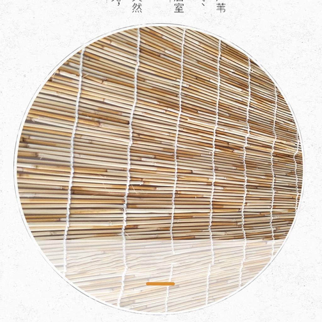 ZXCV Rideau en Roseau Naturel pour Stores de fen/être r/étro Cur Rideau dombrage en Bois Couleur Decoration D/écoration de Rideau en Bambou Enroulable adapt/é aux Tailles Multiples int/érieur//ext/érieur