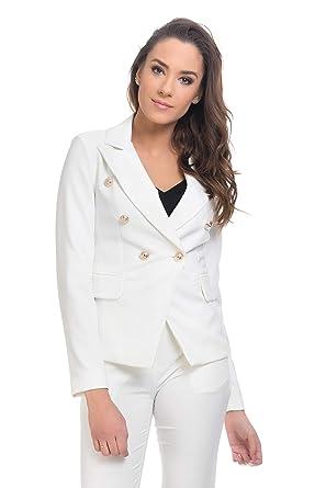 60186953615469 TANTRA Veste Tailleur, Boutons Fantaisie Femme: Amazon.fr: Vêtements ...