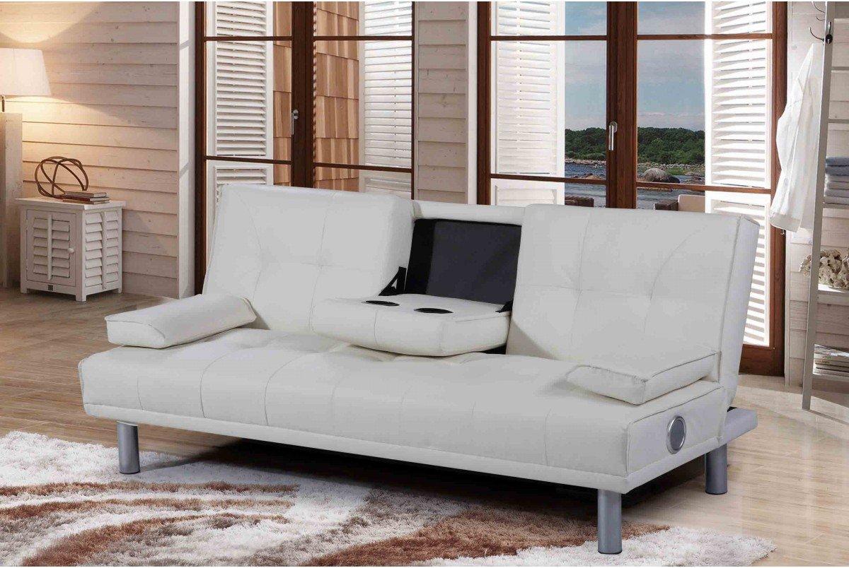 Sensational Dream Warehouse Manhattan Bluetooth Sofa Bed Leather White Customarchery Wood Chair Design Ideas Customarcherynet