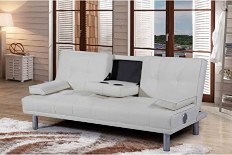 Cool Dream Warehouse Manhattan Bluetooth Sofa Bed Leather White Bralicious Painted Fabric Chair Ideas Braliciousco