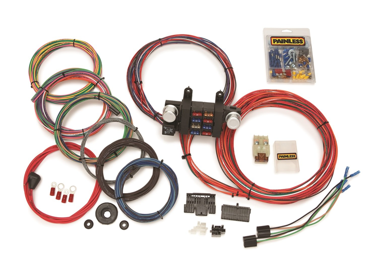 Painless 10307 8 Circuit Universal Modular Harness Wiring And Chassis Automotive