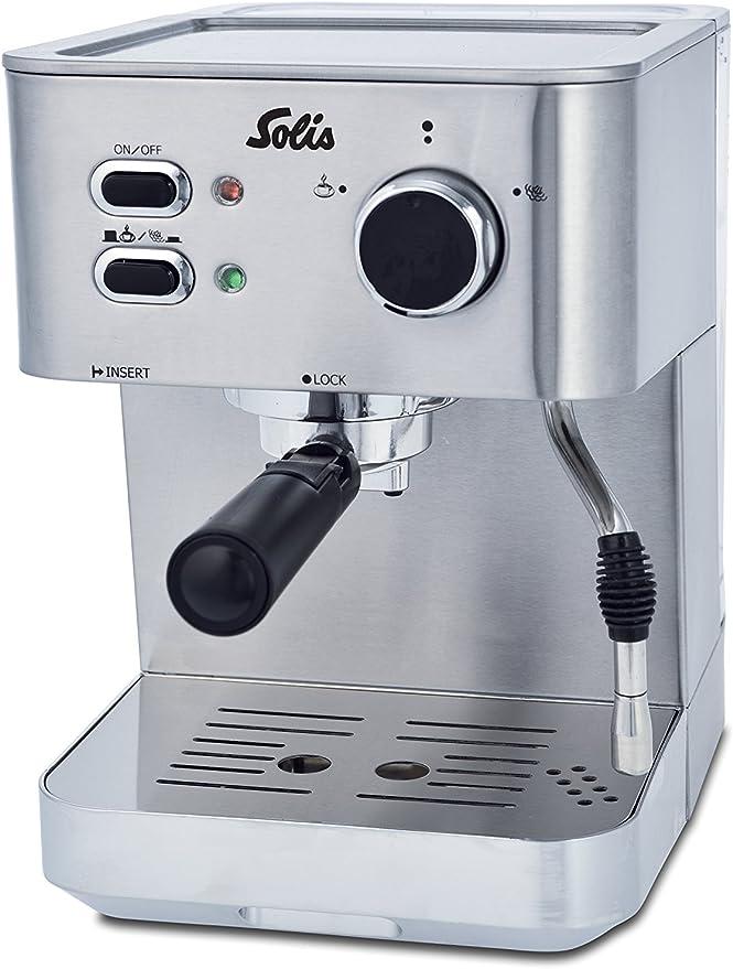 Solis Primaroma 1010 - Set Cafetera de espresso + Molinillo de café - 1,5 L - 15 bar - Café molido - Acero inoxidable: Amazon.es: Hogar