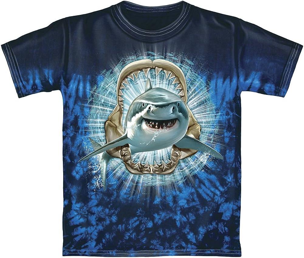 Dawhud Direct Shark Tie-Dye Adult Tee Shirt