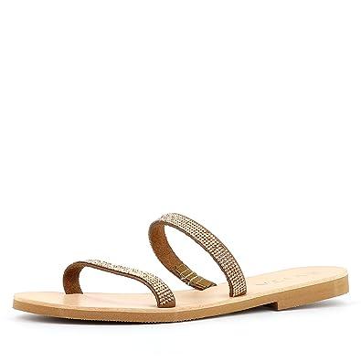 Evita Shoes Greta Damen Sandale Rauleder Fein Schwarz 38 FGEocLIwol
