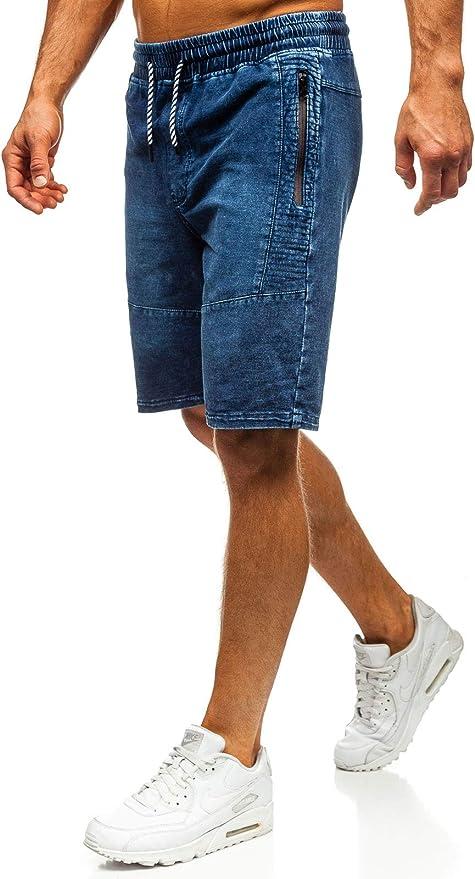 BOLF Hombre Pantalón Corto Pantalones Vaqueros Denim Regular ...