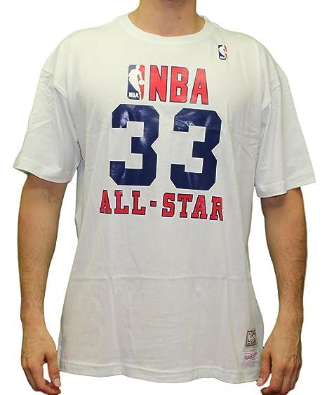 new style 58dfb 0b0f2 Amazon.com : Larry Bird NBA Mitchell & Ness White 1990 NBA ...
