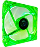 APEVIA CF12SL-UGN 120mm 4pin Molex + 3pin Motherboard Silent Green LED Case Fan