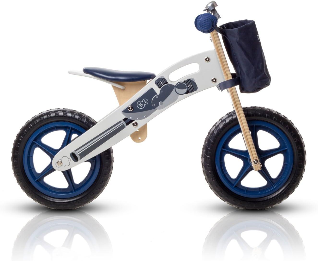 KinderKraft Niños Fuerza Runner Bicicleta de Madera sin Pedales con Campana de Bolsa y de 2 Colores: Amazon.es: Juguetes y juegos