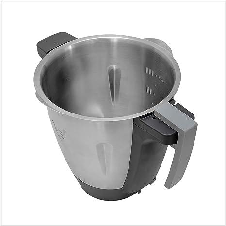Coolina® - Mango de olla para Monsieur Cuisine Connect (MCC) (gris): Amazon.es