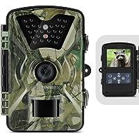 ZANMAX Wild Kamera, 12MP 1080P Full HD Infrarot Jagd Trail Kamera mit IR LED-Nachtsicht, LCD-Anzeige, IP66 Wasserdichtes Design für Haussicherheits-Überwachung/Tiere Scouting