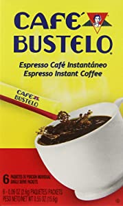 Cafe Bustelo Instant Espresso Coffee Single Serve Packets (Pack of 4)