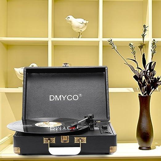 9 opinioni per Vinyl Transport Giradischi Vintage, Giradischi Bluetooth Automatico con Trazione