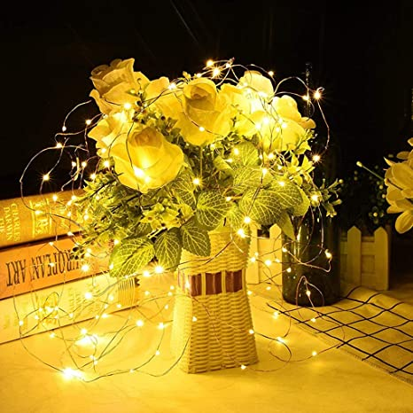 20 LED Flower Indoor Battery 10ft 3M Fairy Party Wedding String Lights Christmas