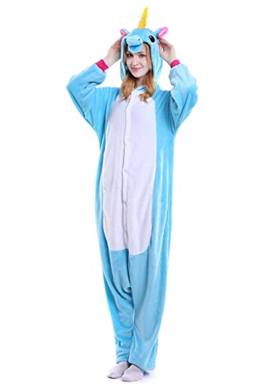 Unicornio Pijamas Unisex Adulto Cosplay Disfraz de Halloween Animal Pijamas Mono de Invierno Unisex Animales: Amazon.es: Ropa y accesorios