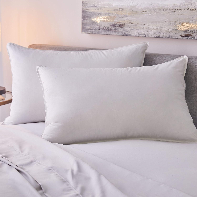1221寝具サテン地ホワイトGoose Down Pillow Firm King B077NWTMR8