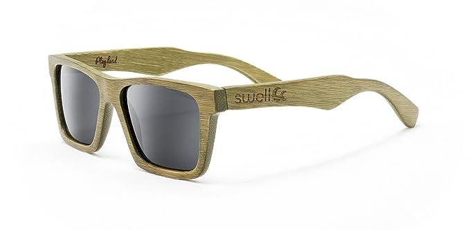 Amazon.com: Swell Vision Classic Zen Verde Bambú anteojos de ...