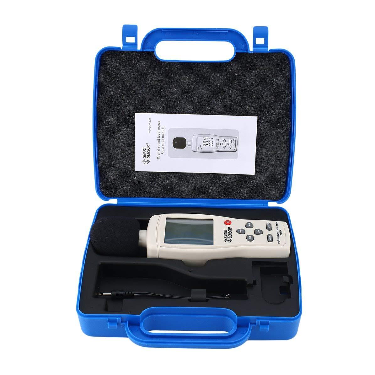 Smart Sensor AS824 Sound Level Meters Decibel Meter Logger Noise Audio Detector Digital Diagnostic-Tool Automotive 30~130dB