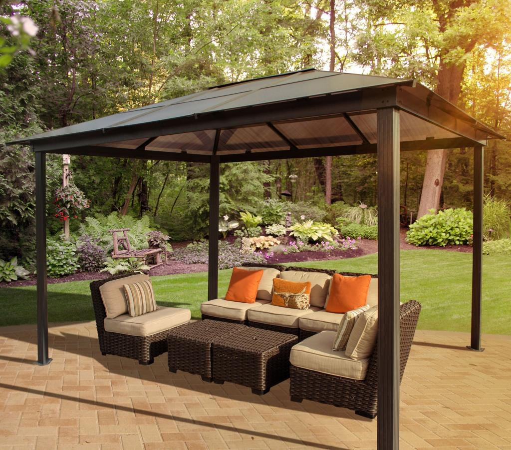 Stc madrid gazebo 10 by 13 feet pergola garden outdoor - Modern prieel aluminium ...