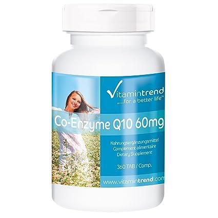 Coenzima Q10 –Ubiquinona – 360 pastillas – tratamiento para 6 meses – fabricado en Alemania