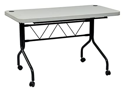 Amazoncom Office Star Resin MultiPurpose Flip Table With Locking - 4 feet office table