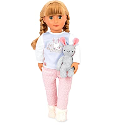 "Our Generation by Battat- Jovie 18"" Regular Non-Posable Pajama Fashion Doll- for Ages 3 & Up: Toys & Games"