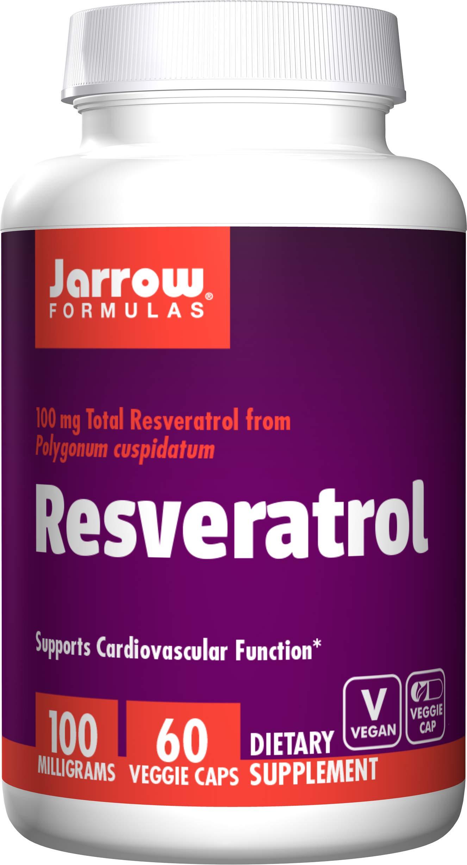 Jarrow Formulas Resveratrol, Supports Cardiovascular Function, 100mg, 60 Veggie Caps by Jarrow Formulas