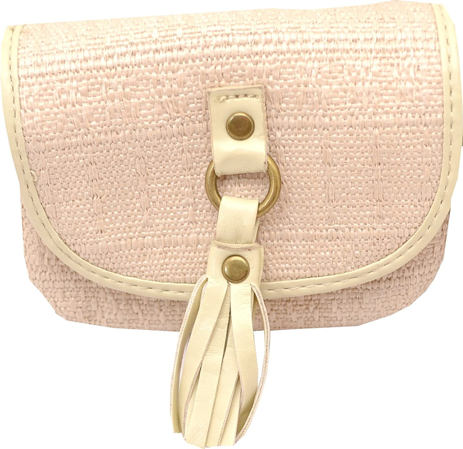 M Style Lab Womens Mini Coin/ Card Purse (Bone)