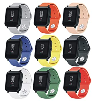SongNi® for Xiaomi huami AMAZFIT Bip Youth Straps Correas [9 Pack ...
