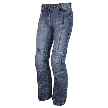 Modeka Nevada Lady pantalones vaqueros, azules: Amazon.es ...