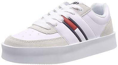 eafcc640c372 Hilfiger Denim Damen Tommy Jeans Light Sneaker, Weiß (White 100), 36 EU