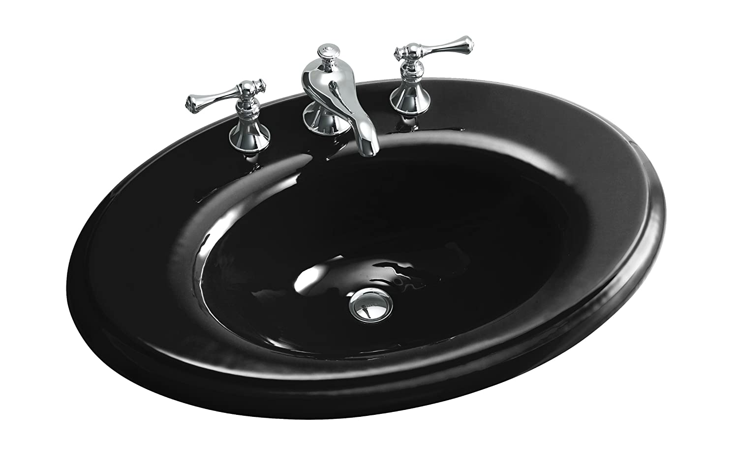 KOHLER K-2950-8-7 Revival Self-Rimming Bathroom Sink with 8\
