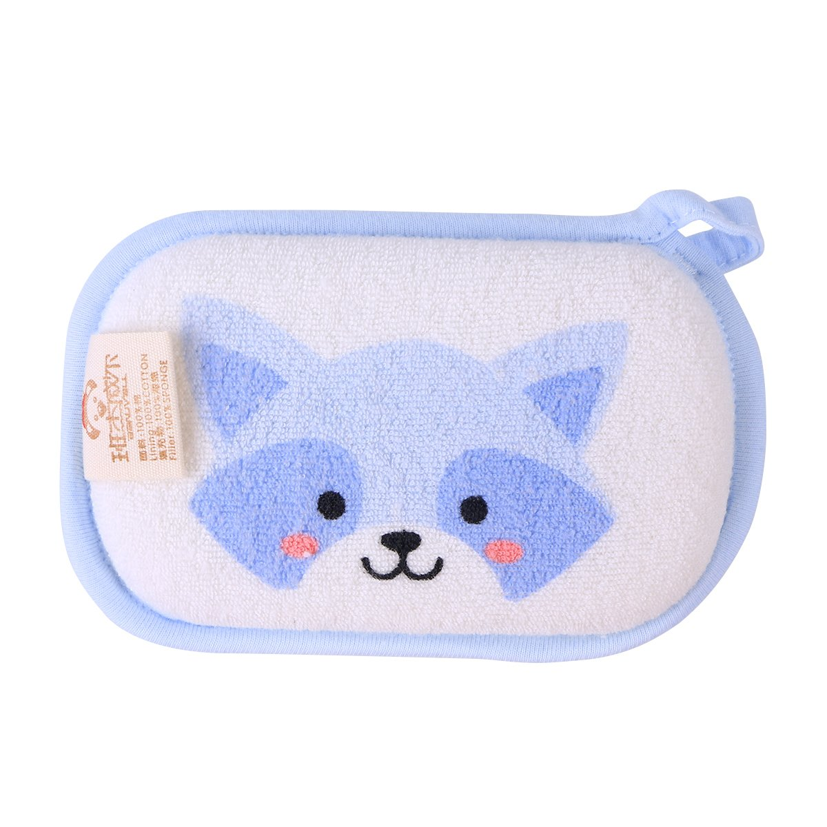 ounona Baby Bath Sponge天然ソフトコットンブラシRubシャワースポンジCartoon Coati B07F16B9RV