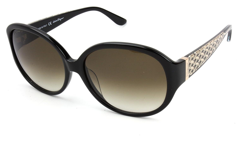 Salvatore Ferragamo SF665S Sunglasses-001 Black (Brown Gradient Lens)-59mm