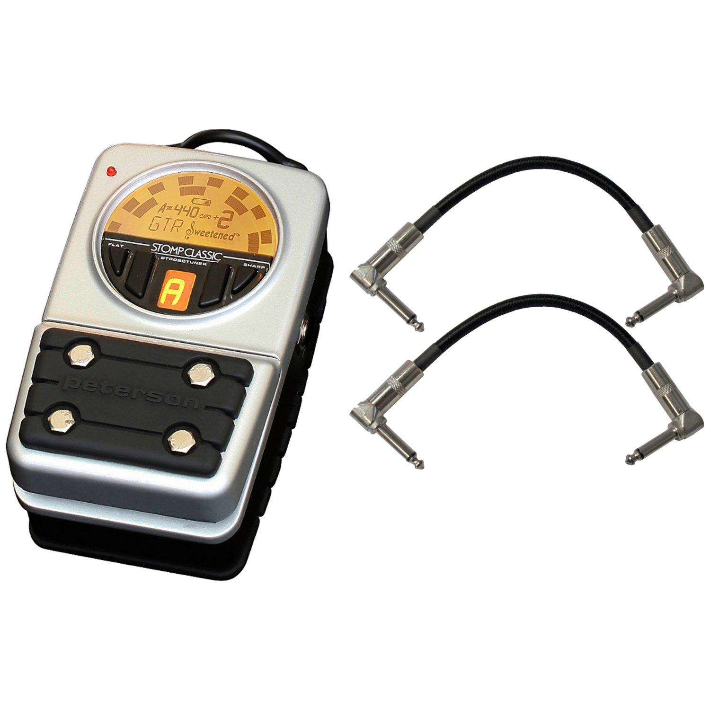 Peterson VSS-C Strobotuner Stomp Classic Digital Strobe Instrument Tuner Pedal w/ 2 Cables