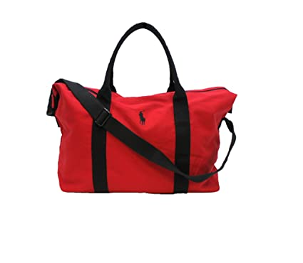 7027a4d4fe78 RALPH LAUREN POLO RED MENS HOLDALL   TRAVEL   GYM   WEEKEND   DUFFLE BAG   Amazon.co.uk  Luggage