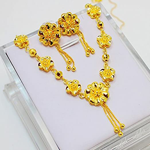 Amazoncom CSDB 24K Gold Real 24K Yellow Gold Filled Necklace