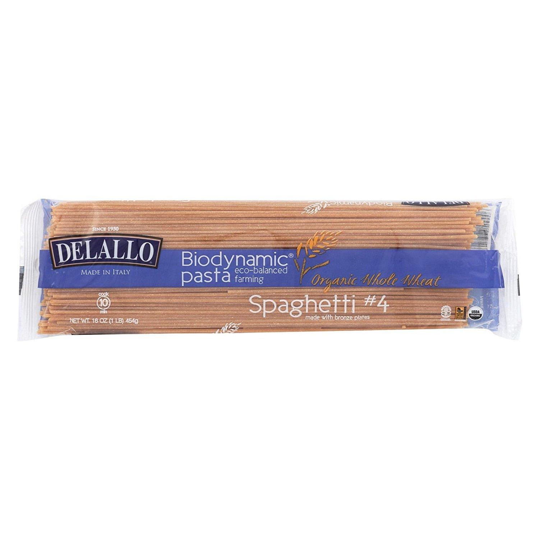 De Lallo Biodynamic Ww Spaghetti 1 Lb (Pack Of 16) by DeLallo