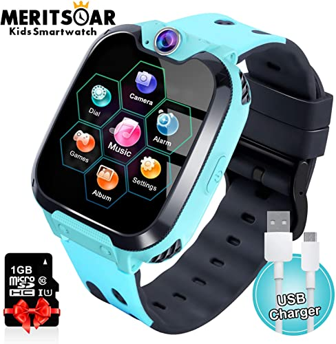Kids Games Watchs Phone – 1.54 inch Touch Screen Game Smart Watch with MP3 Music Player Call SOS Calculator Alarm Clock Camera 7 Games Watchs for Boys Girls Birthday Gifts 3-12y
