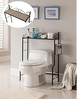kings brand etagere freestanding bathroom shelf storage organizer rack - Over The Toilet Shelf