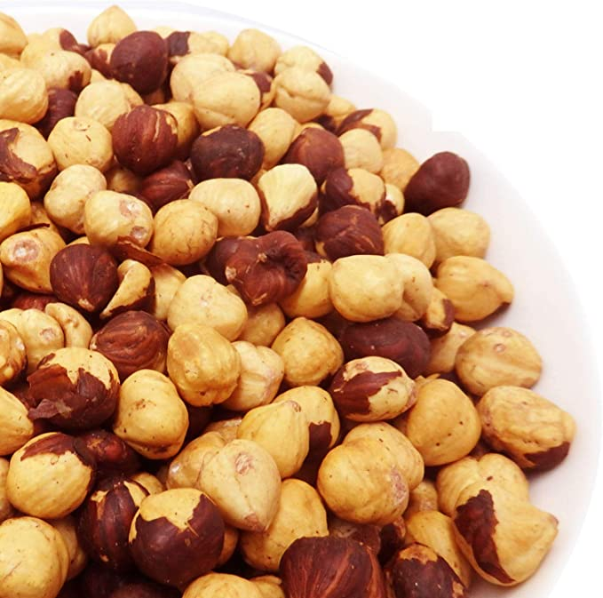 素焼き ヘーゼルナッツ 1kg トルコ産 (無添加、無塩、ロースト、皮あり)